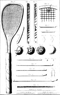 early racket and balls
